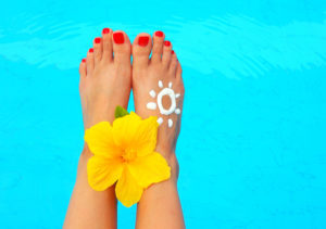 Sunscreen Tip – Don't forget your feet!